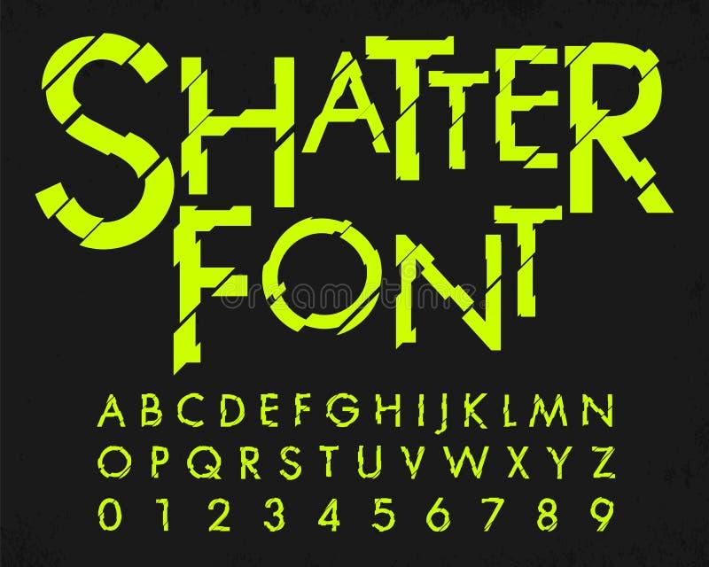 Letra y número con diseño de la fuente del fragmento ilustración del vector
