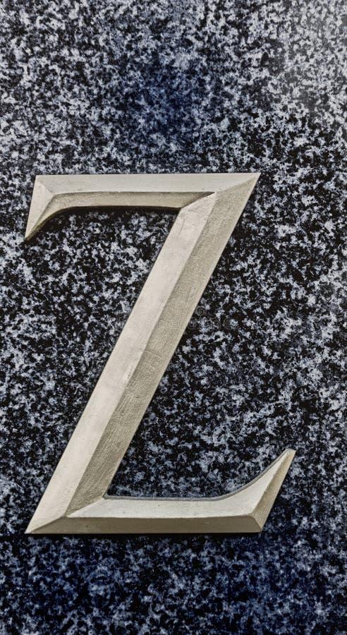 Letra Z fotografía de archivo libre de regalías