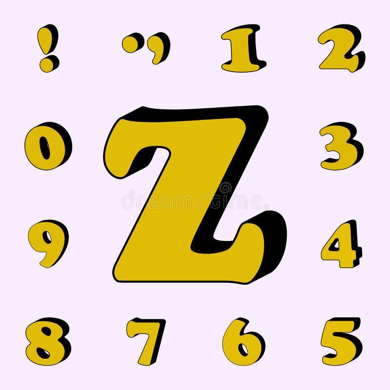 letra Z, alfabeto, ícone 3D grupo universal dos ícones das palavras 3D para a Web e o móbil ilustração stock