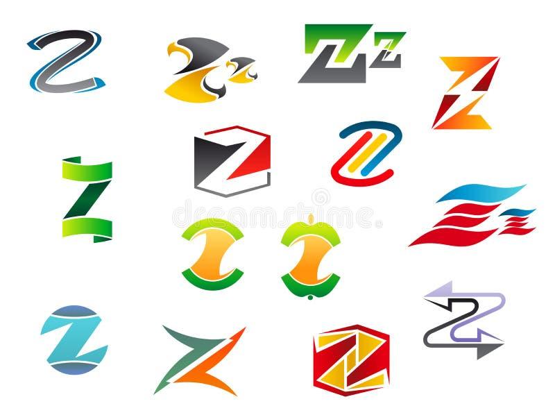 Letra Z del alfabeto ilustración del vector