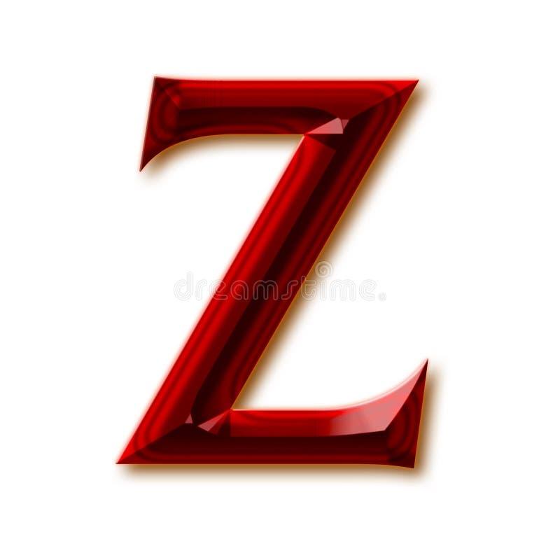 Letra Z del alfabeto de rubíes tallado elegante libre illustration