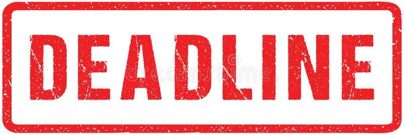 Letras ásperas del sello rojo del sello del plazo aisladas en blanco Efecto rojo de la imitación del sello de goma del Grunge de  libre illustration