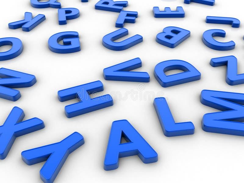 letras 3D ilustração do vetor