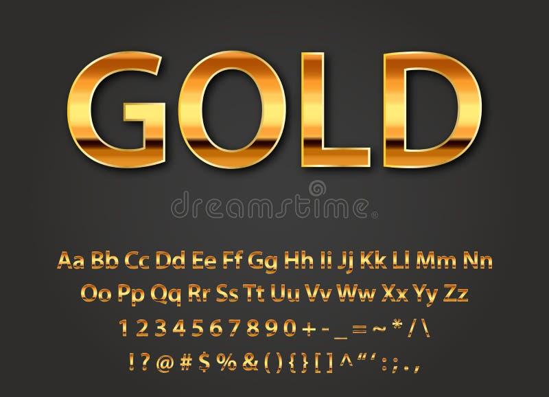 Letras brillantes del oro del vector ilustración del vector