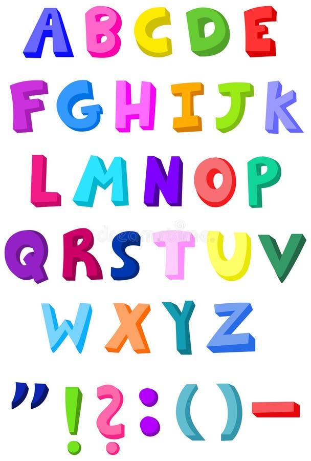 Letras coloridas ilustração do vetor