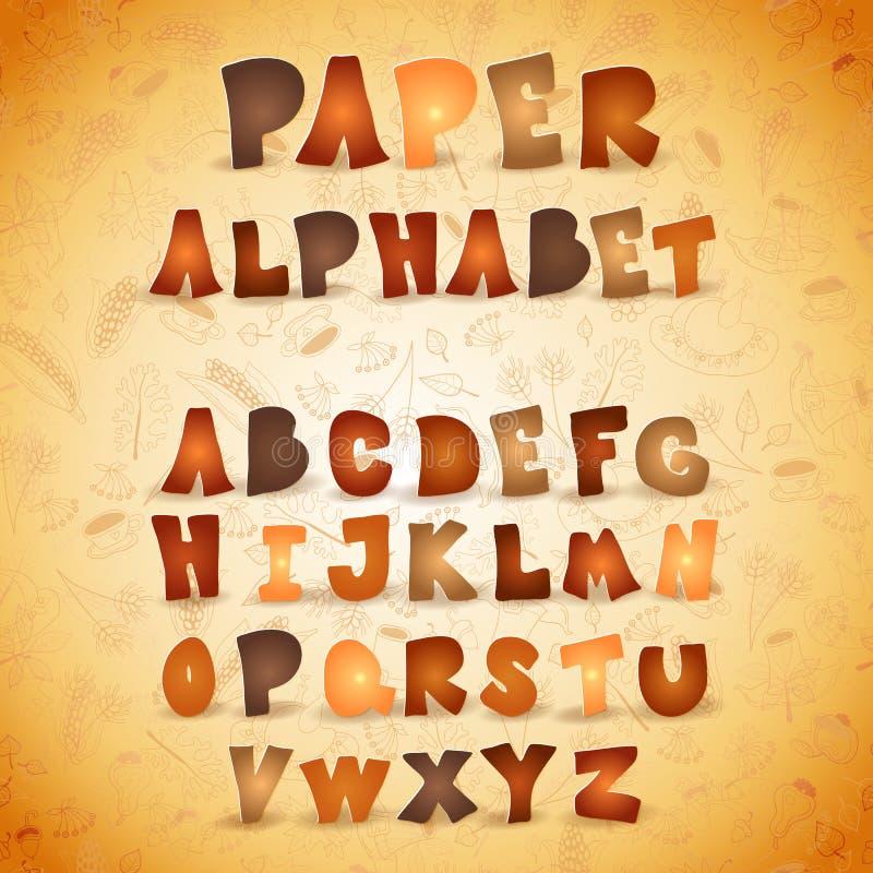 Letras coloridas de ABC del papel Alfabeto del otoño libre illustration