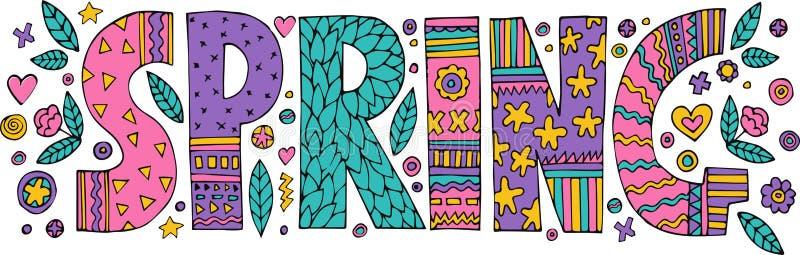 Letras coloridas de la primavera libre illustration