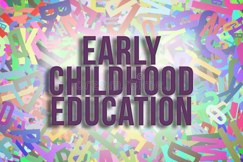 Letras coloridas de los alfabetos como fondo para la educación stock de ilustración