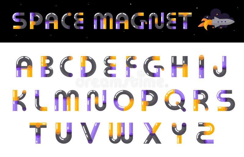 Letras criativas da fonte do alfabeto ajustadas ilustração stock