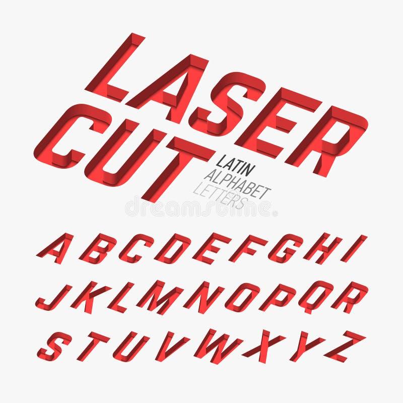 Letras cutted laser ilustração royalty free