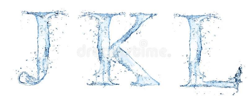 Letras da água ilustração stock