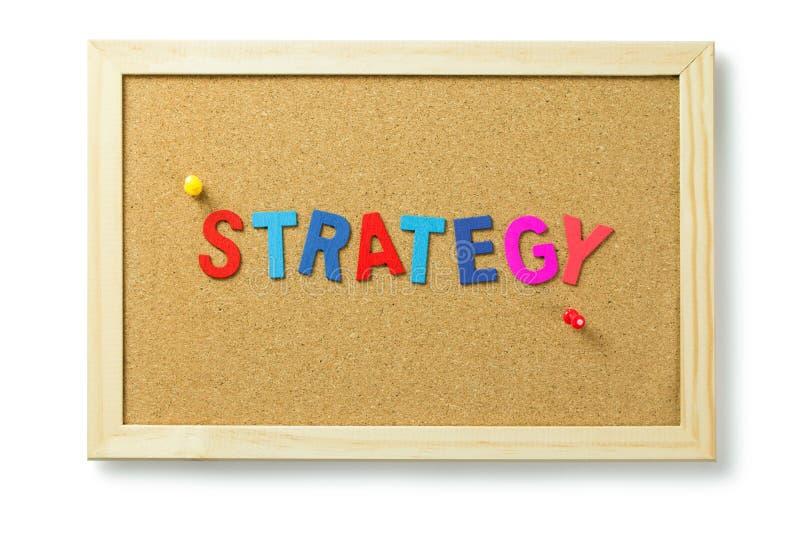Letras da palavra da estratégia imagens de stock