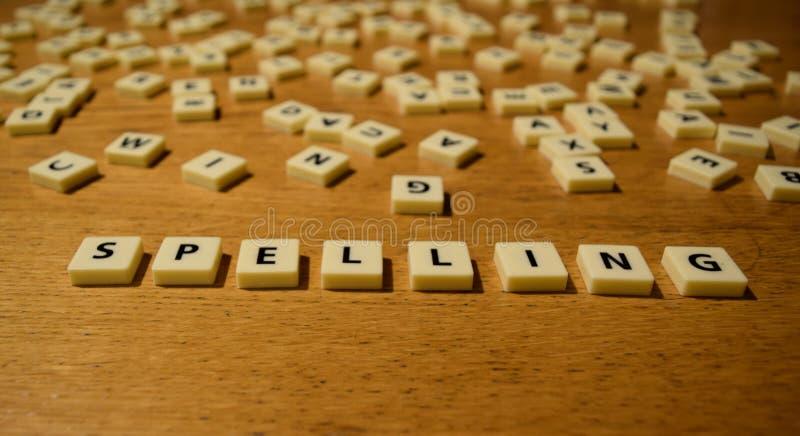 Letras da soletração foto de stock