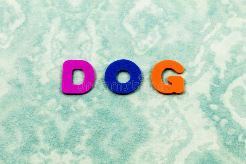 Letras das crianças de amor da família do amigo do animal de animal de estimação do cão fotos de stock