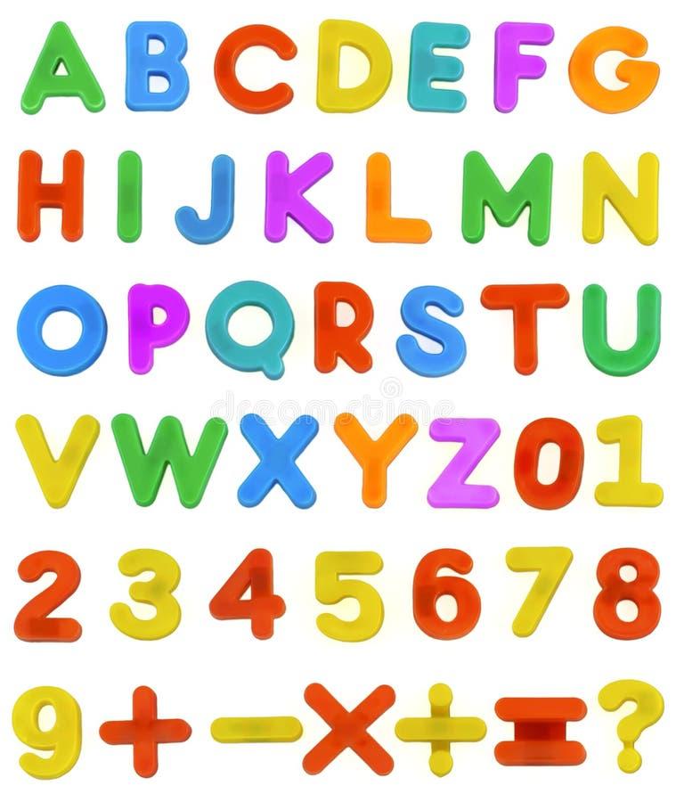 Letras de ABC da criança imagem de stock royalty free