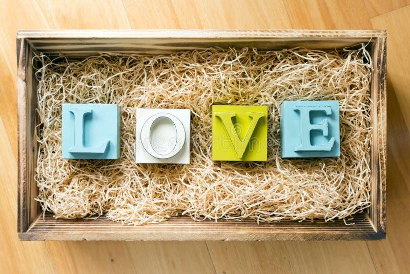 Letras de amor foto de archivo libre de regalías