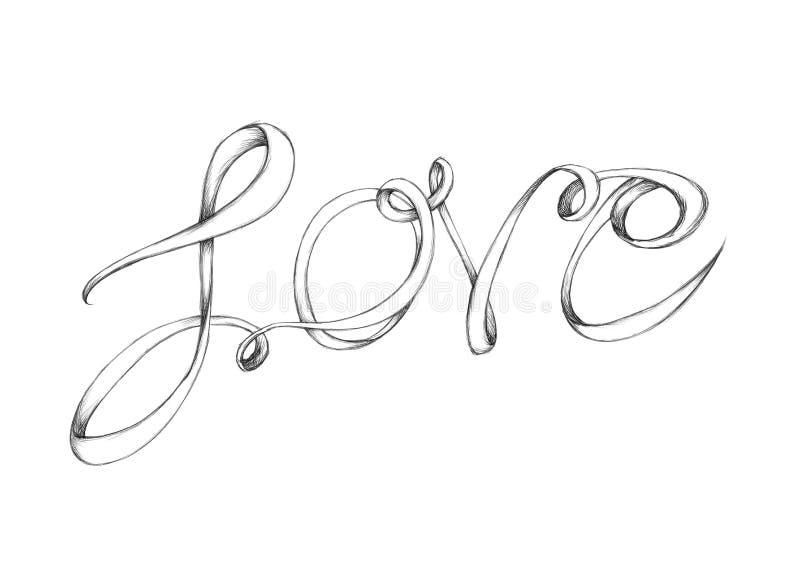 Letras de amor ilustración del vector