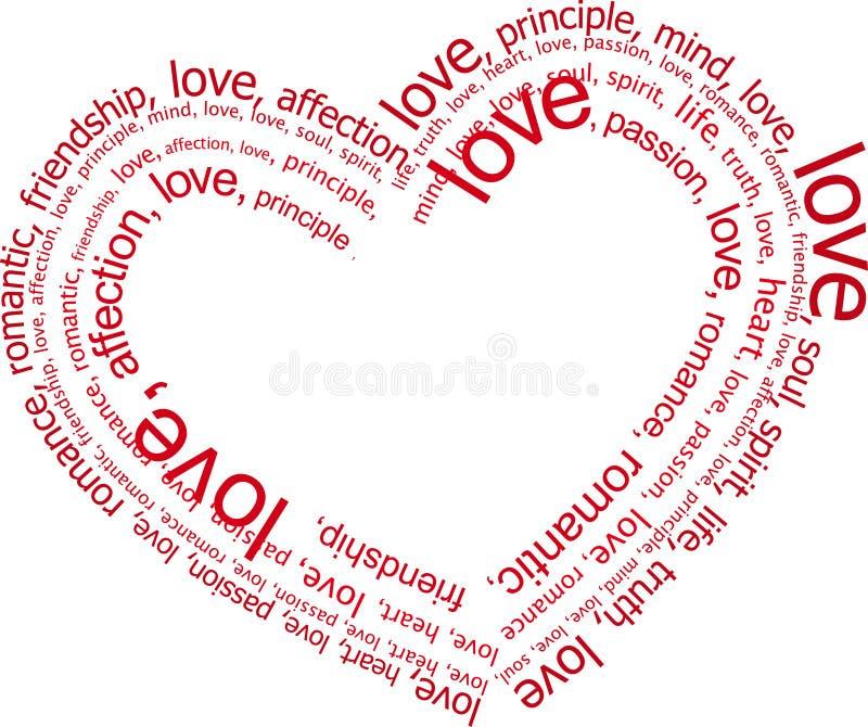 Letras de amor (vetor) ilustração royalty free