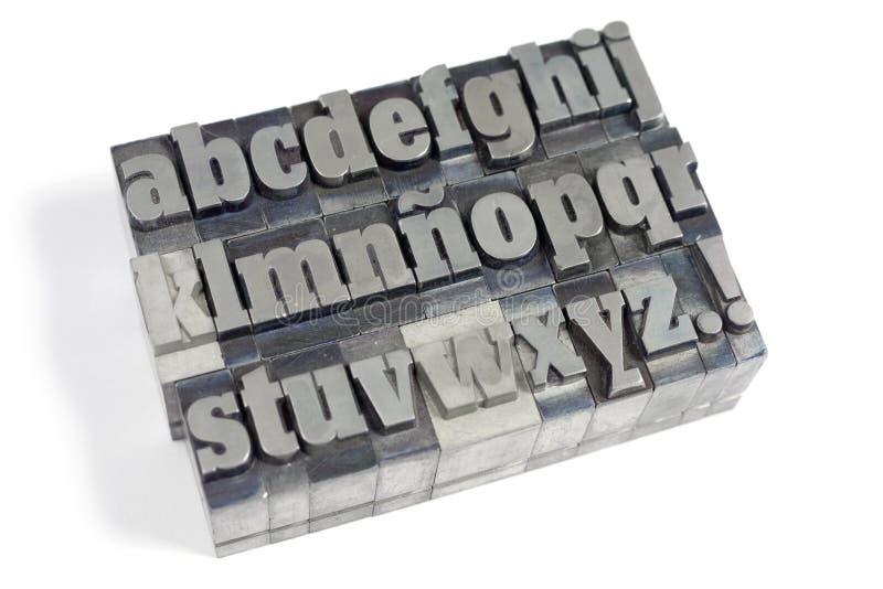 Letras de bloco imagem de stock royalty free