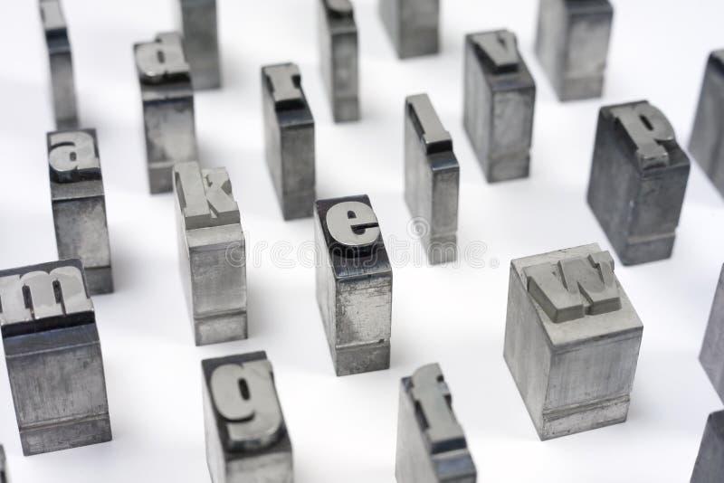 Letras de bloco imagem de stock