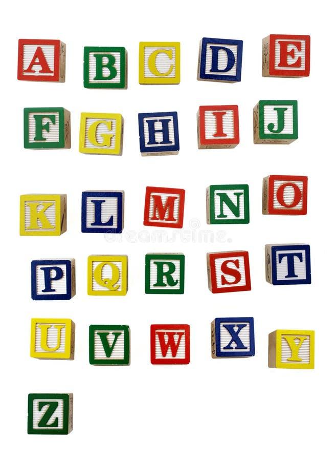 Letras de bloco de madeira fotos de stock royalty free