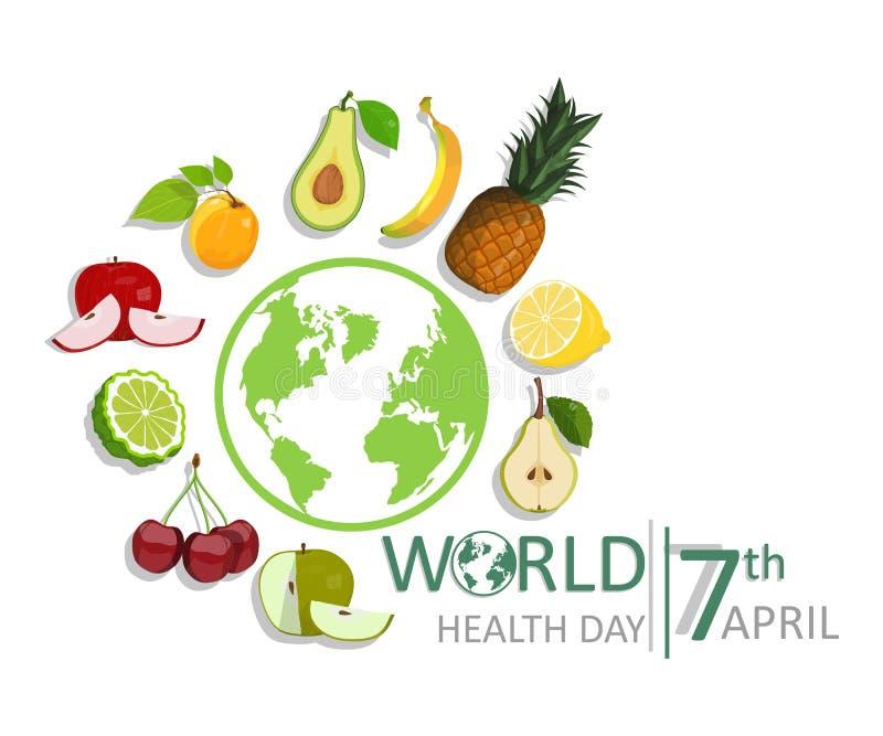 Letras de día de la salud de mundo libre illustration