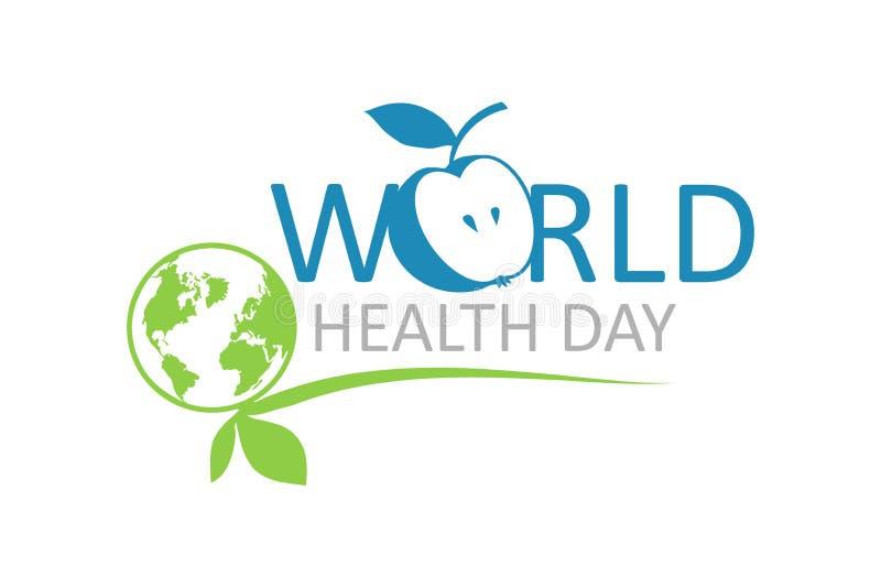 Letras de día de la salud de mundo stock de ilustración
