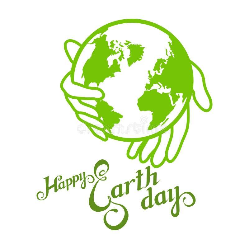 Letras de Día de la Tierra Concepto de la ecología con tierra stock de ilustración