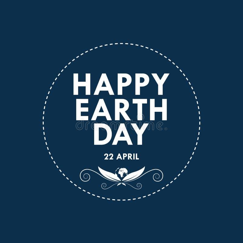 Letras de Día de la Tierra felices Ilustración del vector libre illustration