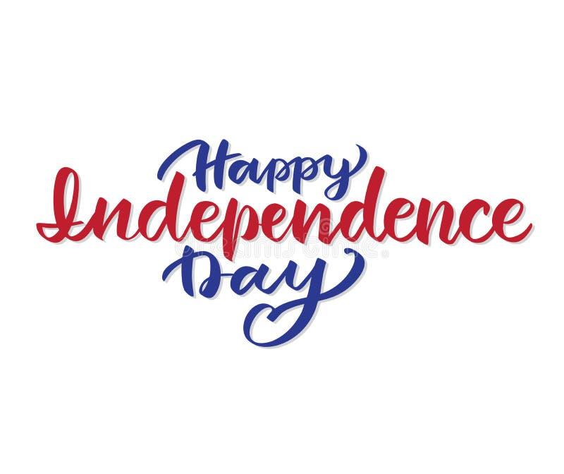 Letras de D?a de la Independencia indicadas unidas stock de ilustración