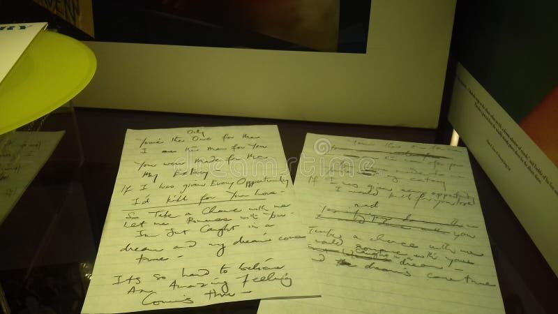 Letras de Freddie Mercury imagen de archivo libre de regalías
