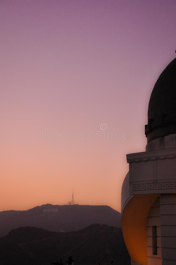 Letras de Hollywood de Griffith Observatory fotografía de archivo