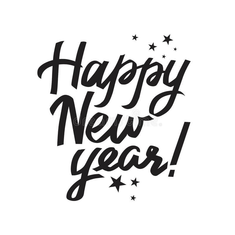 Letras de la Feliz Año Nuevo libre illustration
