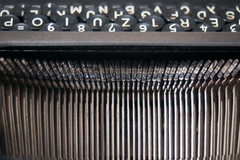 Letras de la máquina de escribir del vintage fotografía de archivo