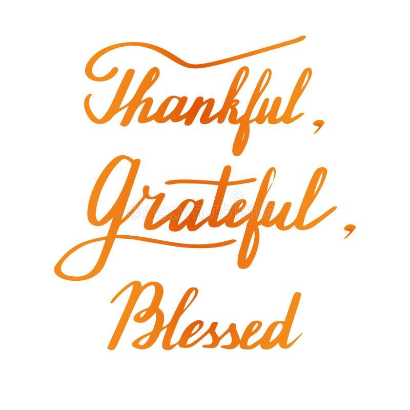 Letras de la mano de la acción de gracias y diseño de la caligrafía libre illustration