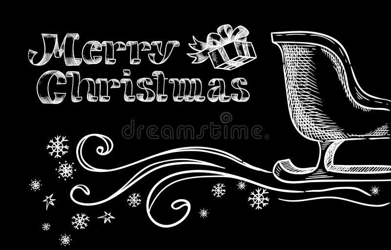 Letras de la mano de una feliz Navidad stock de ilustración