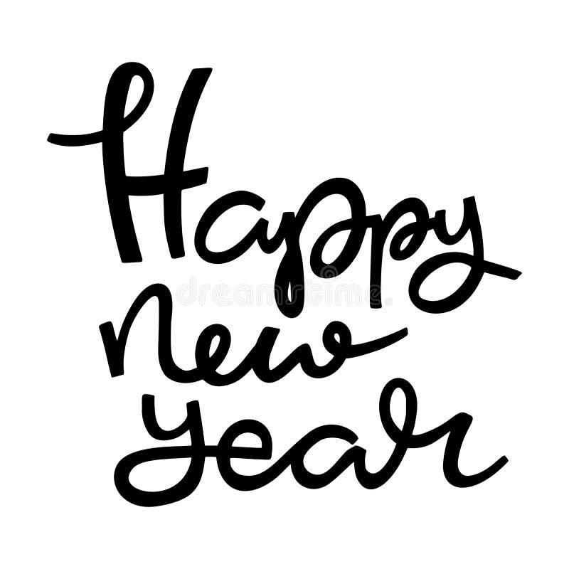 Letras de la mano del Año Nuevo libre illustration