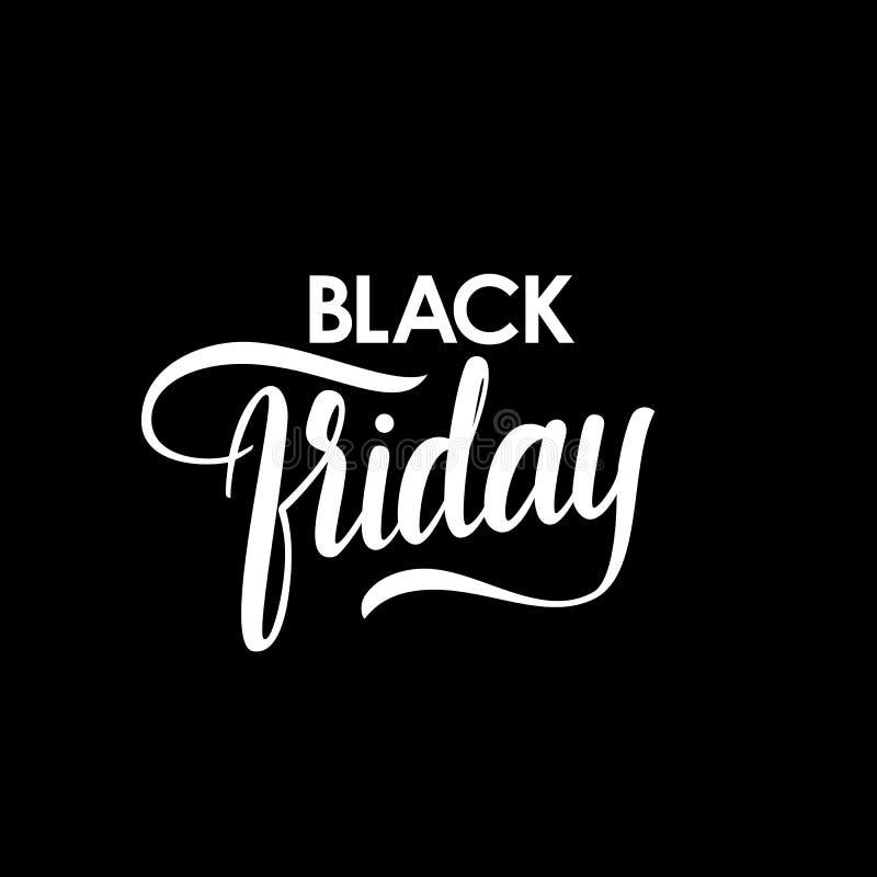 Letras de la mano del vector de Black Friday stock de ilustración