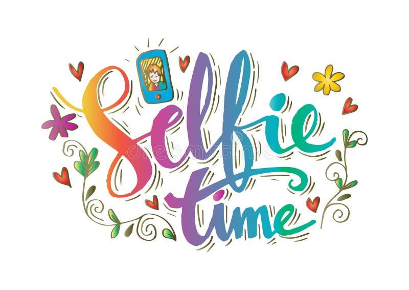 Letras de la mano de Selfie ilustración del vector