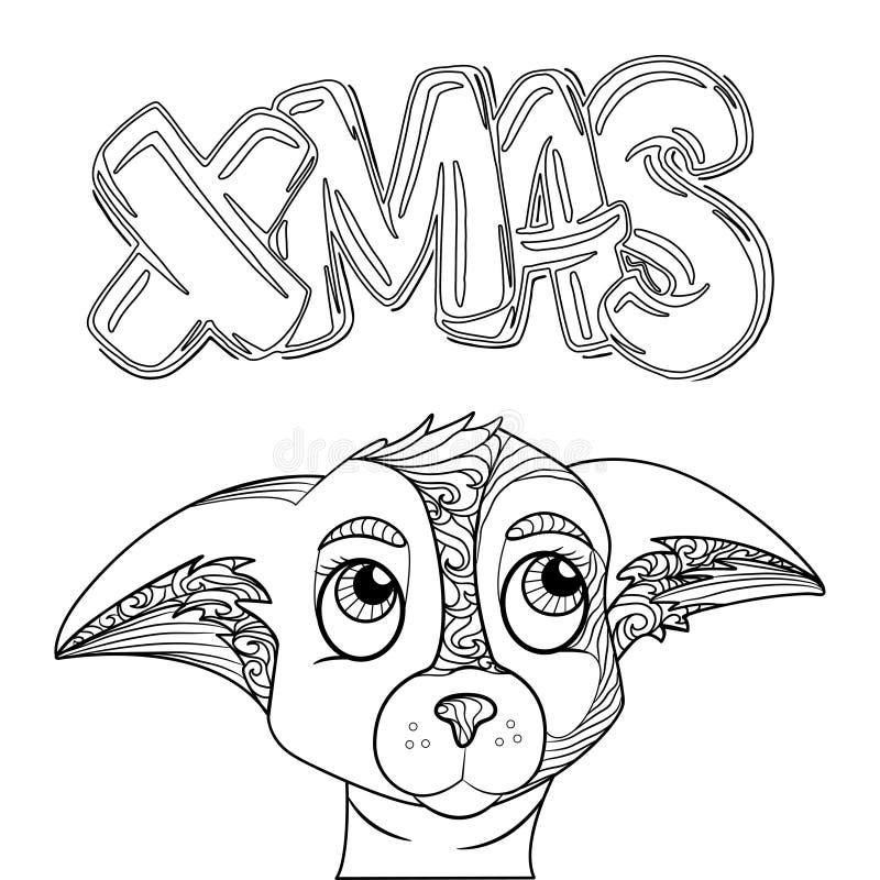 Letras De La Navidad Página De Estilo Decorativa Dibujada Mano Del ...