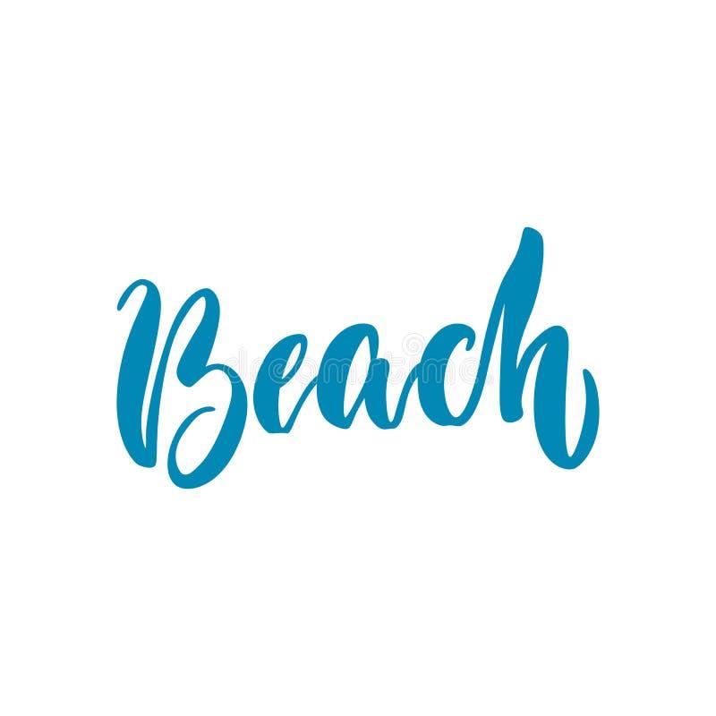Letras de la playa aisladas stock de ilustración
