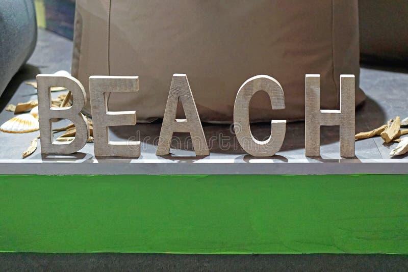 Letras de la playa 3d fotos de archivo