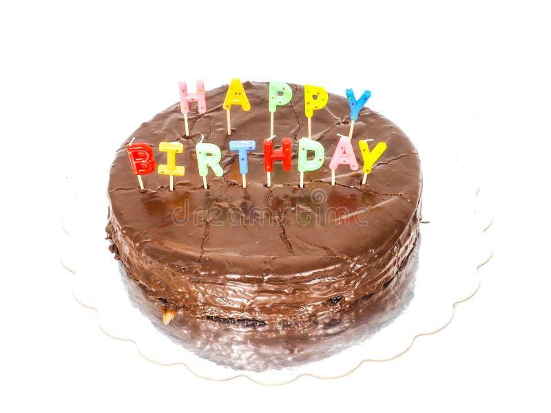 Letras de la vela del feliz cumpleaños imagen de archivo