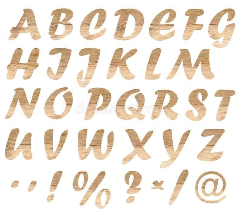 Letras de madera fotografía de archivo