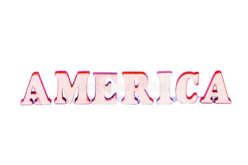 Letras de madera de América fotos de archivo