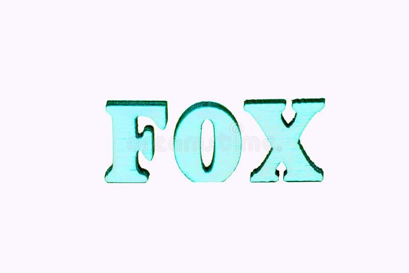 Letras de madera de Foxl imagenes de archivo