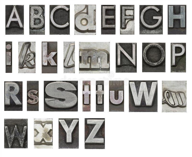 Letras de molde aisladas en blanco ilustración del vector