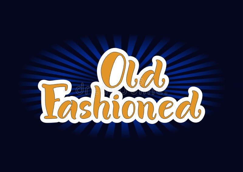 Letras de pasado de moda en naranja con los esquemas blancos en fondo oscuro libre illustration