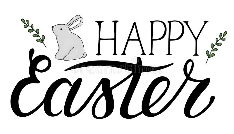 Letras de Pascua del vector libre illustration