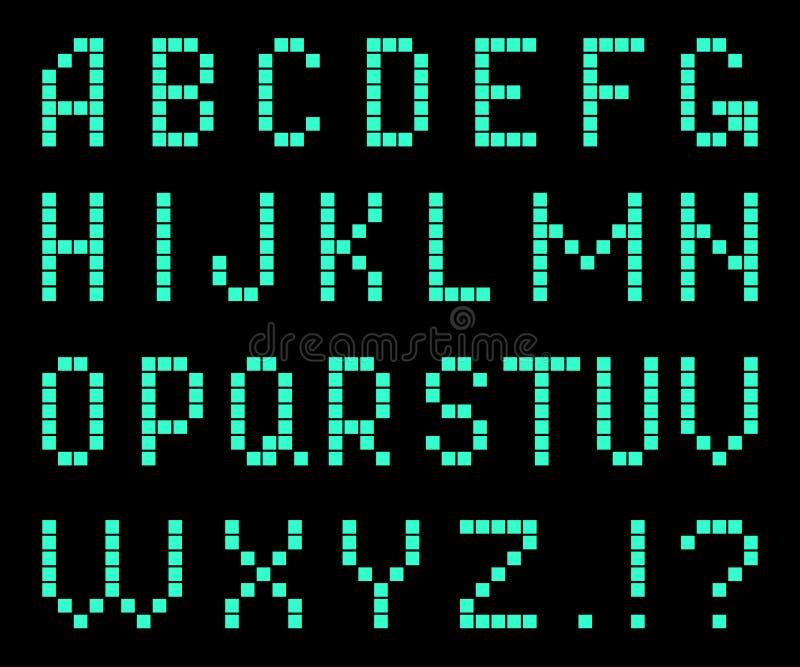 Letras de pixeles stock de ilustración